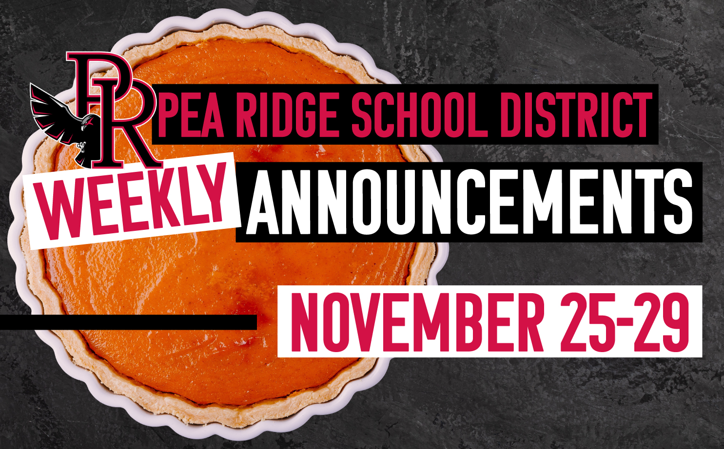 Weekly Announcements Nov. 25-29