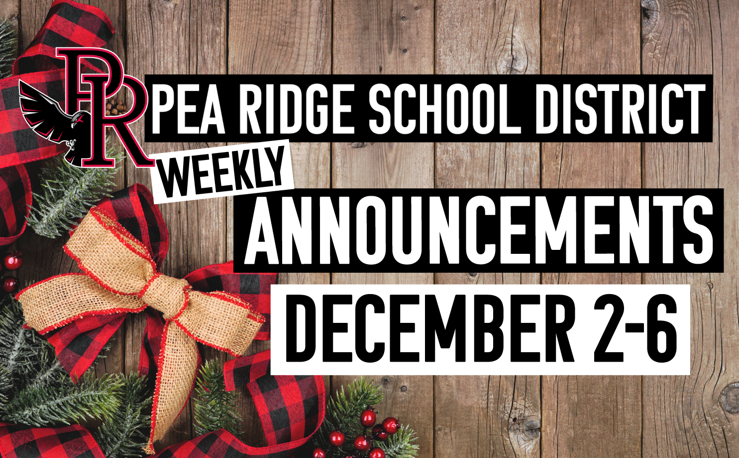Weekly Announcements Dec. 2-6