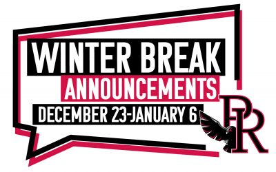 Winter Break Announcements