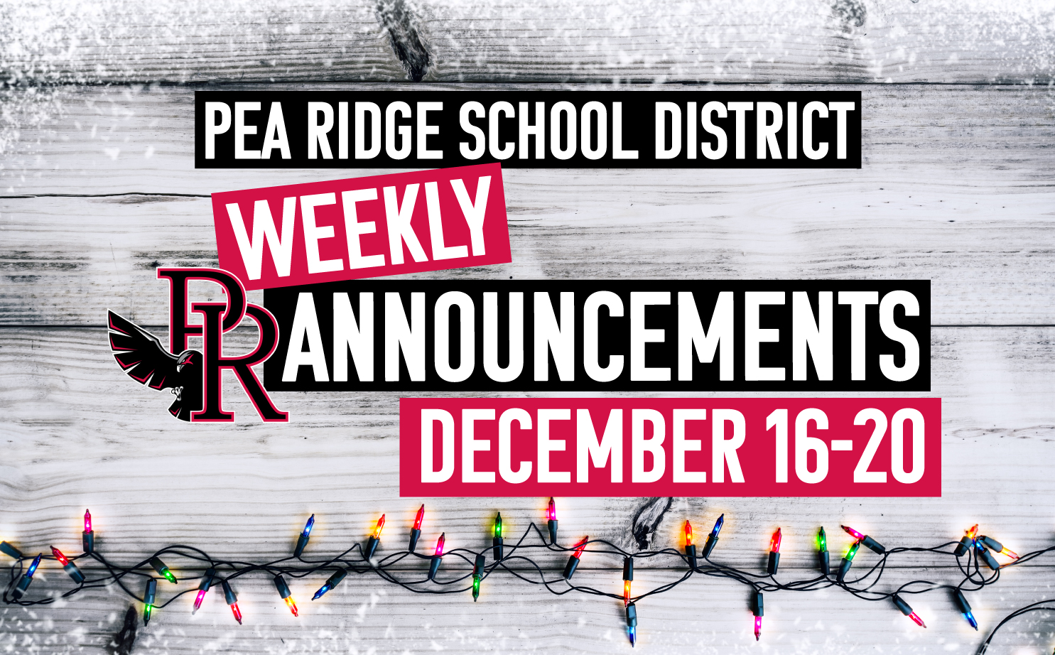 Weekly Announcements Dec. 16-20