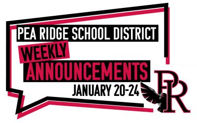 Weekly Announcements Jan. 20-24