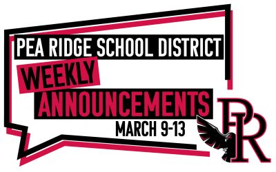 Weekly Announcements March 9-13
