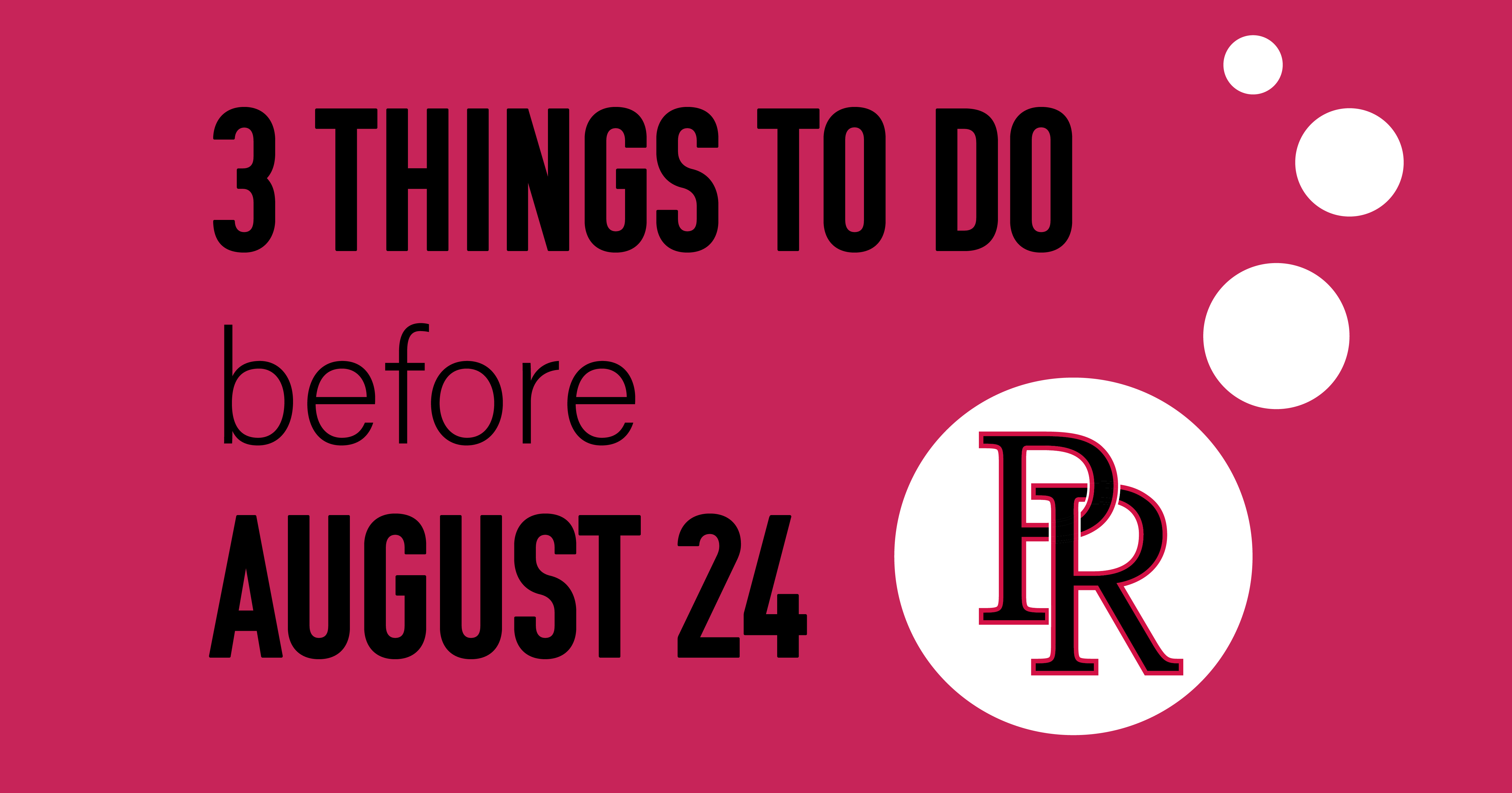 3 Things to Do Before the School Year